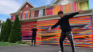 Crazy Houses Crazy Duct Tape Prank On House Youtube