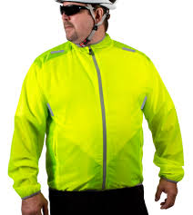 packable bike jacket big mans aero tech windbreaker jacket is high visibility yellow