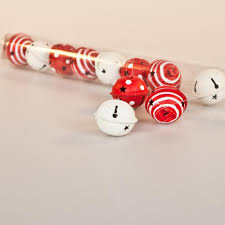 Christmas Decorations Storage Uk by Gisela Graham Christmas Tube Of 12 Red And White Jingle Bell