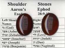 ephod stones real shoulder stones of aaron s ephod ibss gift shop