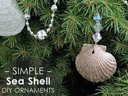 glittery seashell ornaments diy mod podge rocks