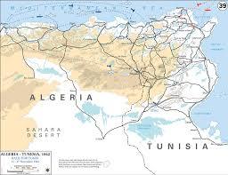 Ww2 Europe Map Map Of Wwii Algeria Tunisia 1942
