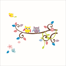 Owl Pictures For Kids Room by Owls On Tree Wall Stickers For Kids Rooms Decorative Adesivo De