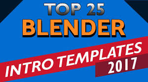 2d intro templates for blender best top 25 free blender intro templates download 2017 2d 3d