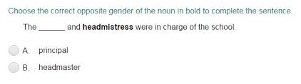 completing sentences with correct opposite noun gender quiz