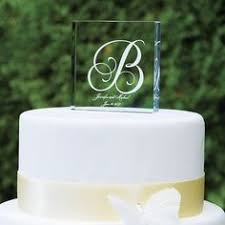 brushed silver monogram set with crystals wedding cake topper 977
