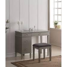 Linon Home Decor Vanity Set With Butterfly Bench Black Linon Vanity Sets Kmart
