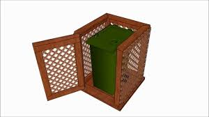 Free Wooden Garbage Bin Plans by Trash Can Enclosure Plans Youtube