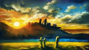 landscape painting tutorial for beginners easy drawing tutorials