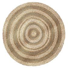 Round Natural Rug by Natural Woven Round Rug
