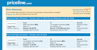 priceline non stop round trip flights miami to los angeles ca for