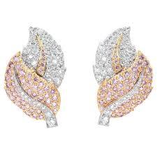 pink diamond earrings graff pink diamond gold earrings for sale at 1stdibs