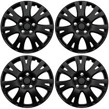 nissan altima wheel covers 4 pc set of 16 u0026 034 matte black hub caps for oem steel wheel