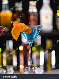 martini drink bottle martini drink served on bar counter stock photo 276861602