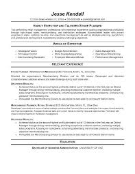 Fashion Retail Resume Examples by Example Store Planner Resume Free Sample