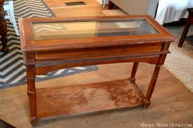 Antique Sofa Table Antique Display Case Table Turned Modern