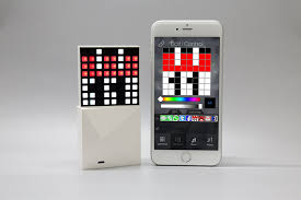 witti design dotti smart pixel art light with notifications for