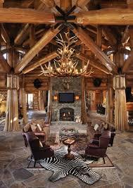 Cabin Sofa Deer Antler Chandelier Living Room Rustic With Antler Chandelier