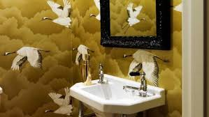 wallpaper designs for bathrooms big patterned wallpaper is transforming home interiors stuff co nz
