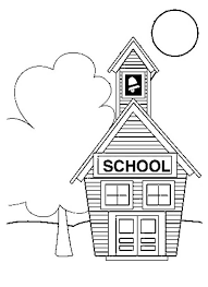 Small School House Coloring Page Coloring Sky Small House Coloring Small Coloring Pages