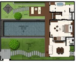 villa floor plan space at bali villa layout