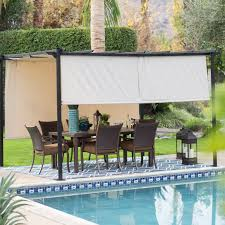 Backyard Shade Canopy by 100 Retractable Sun Shades For Pergolas Retractable Patio