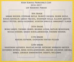 high school senior mailing list junior senior high school principal s list honor roll
