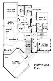 Courtyard Style House Plans by Modern Style House Plan 3 Beds 3 50 Baths 2562 Sq Ft Plan 120 169