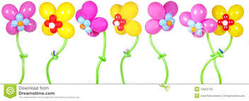 flowers and balloons flowers from balloons stock photo image of plant celebration