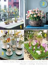 martha stewart u0027s centerpieces for easter at home with kim vallee