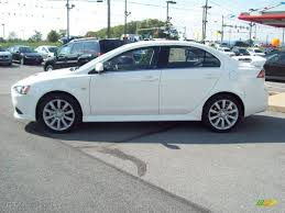 white mitsubishi lancer wicked white metallic 2011 mitsubishi lancer ralliart awd exterior