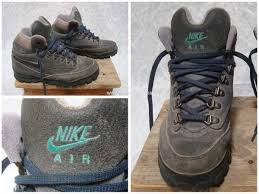womens walking boots size 9 winter shoes vintage retro womens 90s nike hiking boots grey blue