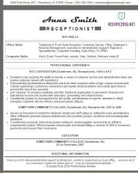 Resume Templates For Receptionist Receptionist Resume Exles 2016