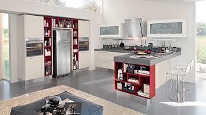 Modern Open Kitchen Designs With Island Cabinets U0026 Drawer Open Kitchen Layout In Modern White Open