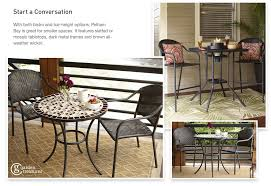 Outdoor Bistro Table Bar Height Shop The Pelham Bay Patio Collection On Lowes