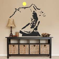buy asmi collections pvc wall sticker beautiful god shiva on