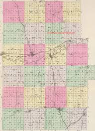 Kansas Map Dickinson County Kansas 1887 Map