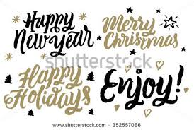 happy holidays merry happy new stock vector 352557086