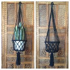 Macrame Home Decor by Macrame Pot Hanger Black U2013 Tropical Interiors