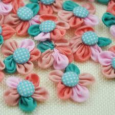 bulk ribbon aliexpress buy 15pcs chiffon ribbon bows flowers dot button