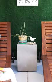 Outdoor Side Table Ideas pinspired diy painted concrete patio u2014 kristi murphy do it