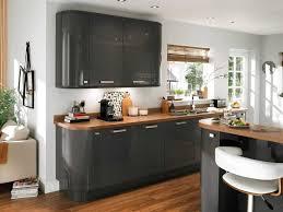 cuisine bois gris cuisine ikea blanche et bois excellent d co table cuisine