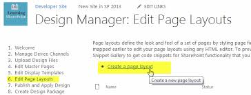 sharepoint 2013 custom page layout with design manager