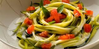 comment cuisiner une courgette spaghetti salade de courgettes spaghettis facile et pas cher recette sur