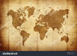 Vintage World Map by Crumpled Vintage World Map Stock Illustration 72103060 Shutterstock