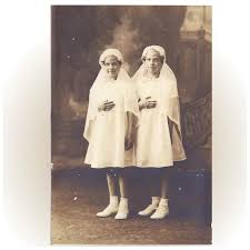white confirmation dresses early 1900 s photograph in white confirmation dresses