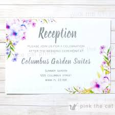 wedding reception invites boho floral wedding reception card romantic lavender mint u2013 pink