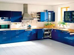 Blue Cabinets In Kitchen Contemporary Blue Kitchen Cabinets On Kitchen Design Ideas