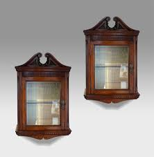 cabinet antique wall cabinet pair of antique glazed cabinets