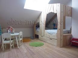 cabane de chambre lit cabane bois massif enfant sequoia abra ma cabane